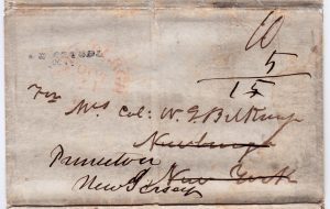 Folded Letter, Camp Monterrey Mexico to Point Isabel TX to New Orleans to Newburgh, NY to Princeton NJ, 10+5 rate, Sept. 24, 1846